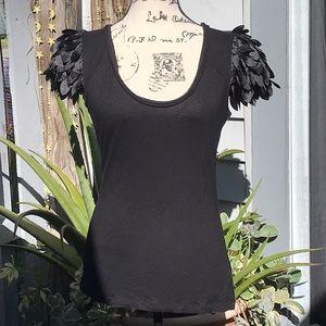 Kardashian Kollection petal sleeve t-shirt size M
